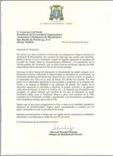 Carta del Excmo Sr. Obispo de Mondoñedo