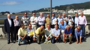 Grupo de ex seminaristas en la xuntanza de Viveiro