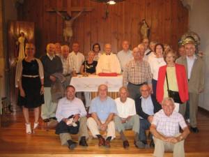Los asistentes a la xuntanza, en la Catedral mindoniense.