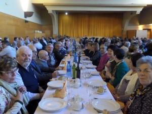 Multitudinario almuerzo en torno a Don Rafael