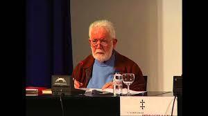 Don Xosé Chao, dictando unha conferencia.
